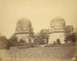 The Jor Gumbaz or Two Sisters Tombs, Bijapur